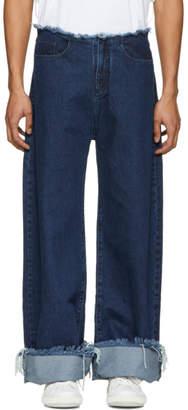 Marques Almeida Indigo Oversized Jeans