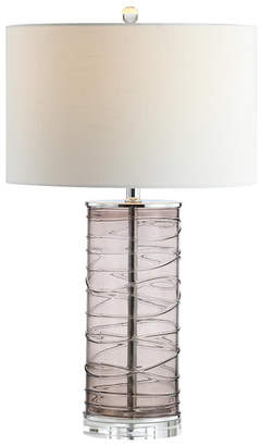 "Jonathan Y Designs Cole 27.5"" Modern Fused Glass Cylinder Led Table Lamp - Set of 2"