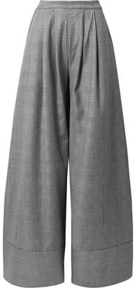 Michael Lo Sordo - Prince Of Wales Checked Wool Wide-leg Pants - Gray