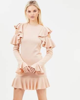 Legion Rib Mini Dress With Frill