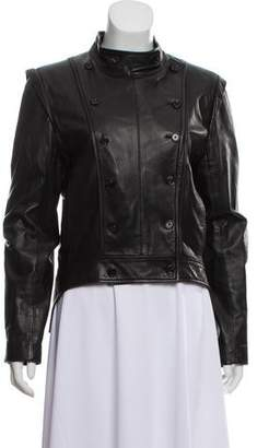 Ann Demeulemeester Leather Double-Breasted Jacket