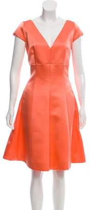 Christian Dior Satin Knee-Length Dress w/ Tags