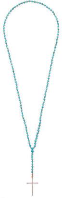 Diane Kordas 18-karat Rose Gold, Turquoise And Diamond Necklace