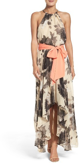 Women's Eliza J Floral Print Chiffon Maxi Dress