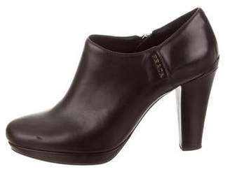 Prada Sport Leather Platform Ankle Boots