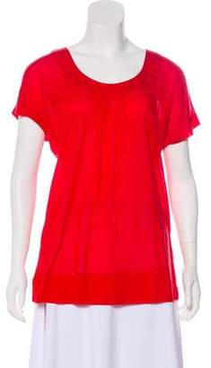 Diane von Furstenberg Short Sleeve Knit Top