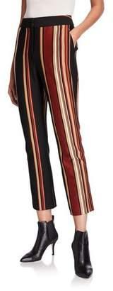 Tory Burch Striped Knit Crop Pants