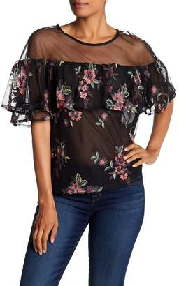 BB Dakota Short Sleeve Embroidered Blouse