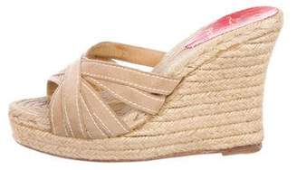 Christian Louboutin Suede Espadrille Wedges
