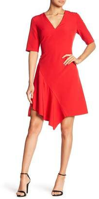 Maggy London Solid Dream Asymmetrical Woven Dress