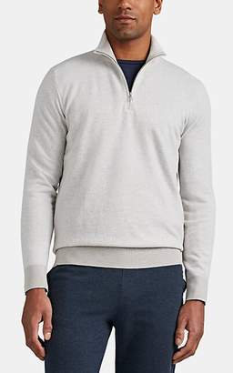 Loro Piana Men's Roadster Cashmere Half-Zip Sweater - Light Gray