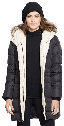 Women's Lauren Ralph Lauren Faux Fur Trim Down & Feather Fill Parka $320 thestylecure.com
