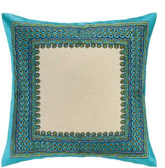 Trina Turk Terranea Embroidered Pillow Blue
