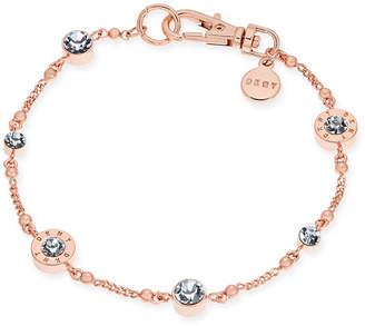 DKNY Crystal and Logo Station Bracelet