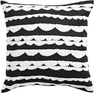 Kate Spade Scalloped Square Linen Blend Decorative Pillow
