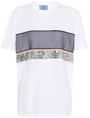 Prada Sequin-embellished T-shirt
