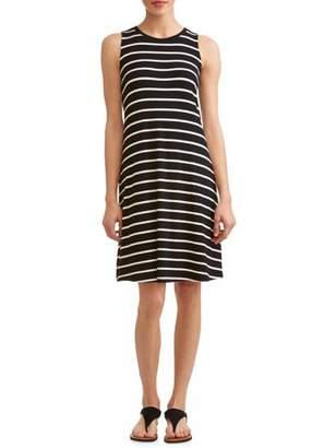 02d15cc96a736 Time and Tru Women s Sleeveless Knit Dress