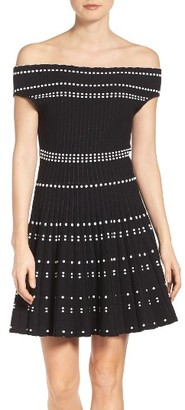 Women's Adelyn Rae Fit & Flare Sweater Dress $98 thestylecure.com