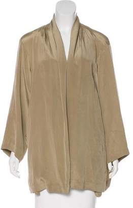 Issey Miyake Long Sleeve Open Front Cardigan