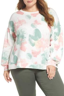 Caslon Blouson Sleeve Sweatshirt (Plus Size)