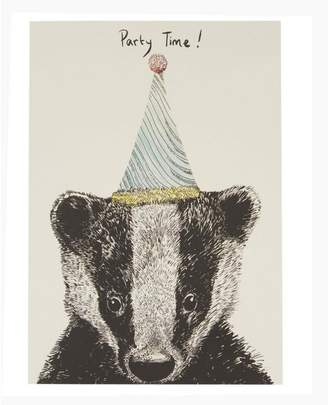 Max Made Me Do It Party Badger Birthday Card