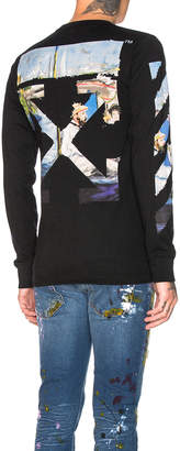 Off-White Off White Diagonal Colored Arrows Longsleeve Tee in Black Multi | FWRD