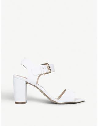 Carvela Sadie lizard-embossed heeled sandals