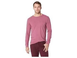 Vintage 1946 Negative Slub Long Sleeve Garment Dyed Pocket Crew Tee