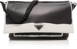 Prada Two-Tone Leather Messenger Bag