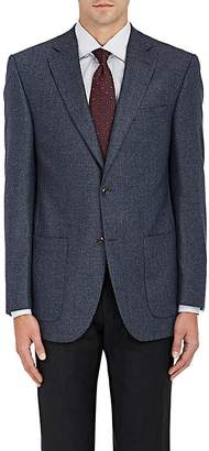 Piattelli MEN'S WOOL TWILL TWO-BUTTON SPORTCOAT