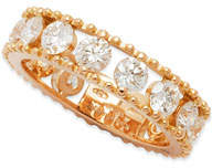 Fratelli Staurino Allegra 18k Rose Gold Diamond Openwork Band Ring (2.45ct), Size 7