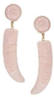 Rebecca de Ravenel Pasha Corded Clip-On Drop Earrings