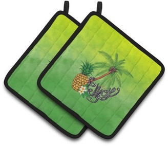 Caroline's Treasures Summer Enjoy Pair of Pot Holders