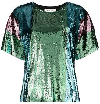 Circus Hotel sequin shortsleeved blouse