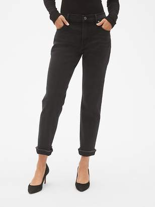 Gap Mid Rise Best Girlfriend Jeans with Raw Hem
