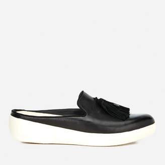 FitFlop Women's Superskate Slip-On Leather Flats - Black