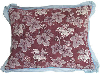 One Kings Lane Vintage 19th-C. French Floral Toile Pillow