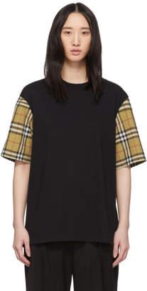 Burberry Black Serra Check T-Shirt