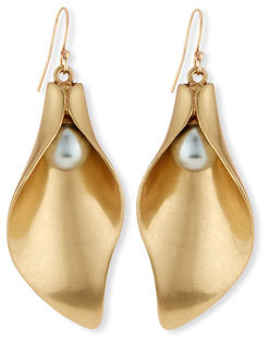 Lulu Frost Jardin Sculpted Drop Earrings $225 thestylecure.com