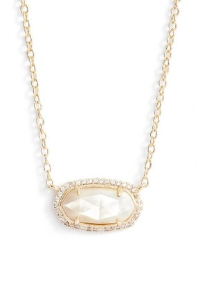 Women's Kendra Scott Elisa Pave Pendant Necklace $80 thestylecure.com