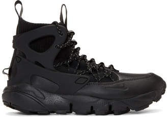Nike Black Air Footscape Mid Utility Sneakers
