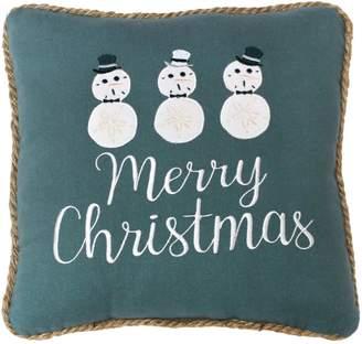 """St Nicholas Square """"Merry Christmas"""" Seashell Throw Pillow"""