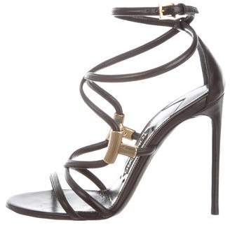 Tom Ford Leather Ankle Strap Sandals w/ Tags