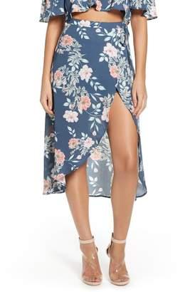 Leith Floral Print Wrap Skirt