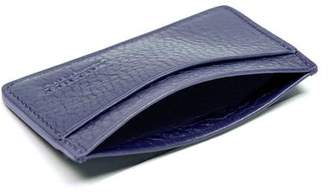 LOTUFF LEATHER Lotuff Blue Leather Credit Card Wallet