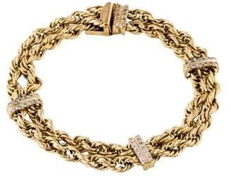 14K Diamond Chain-Link Bracelet