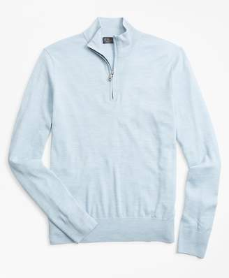 Brooks Brothers BrooksTech Merino Wool Half-Zip Sweater