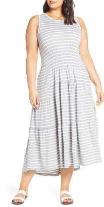 Lucky Brand High/Low Knit Maxi Dress