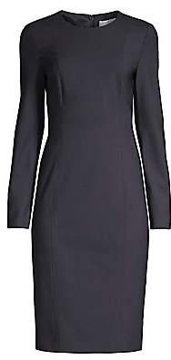 BOSS Women's Damola Slim-Fit Stretch-Wool Sheath Dress