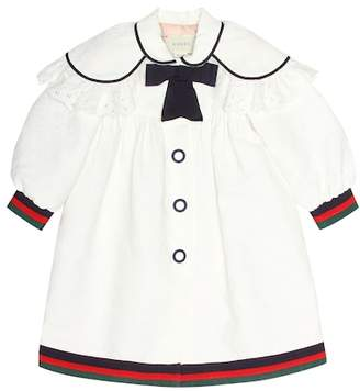 Gucci Kids Collared cotton-blend top